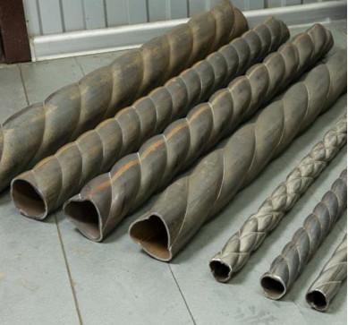 Изготовление винтовой трубы
